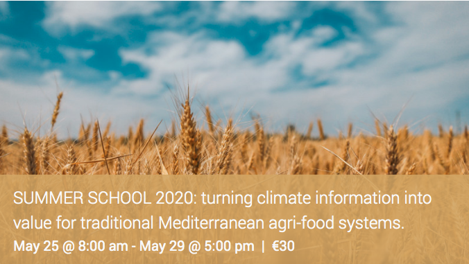 MED-GOLD Summer School: turning climate information into value for traditional Mediterranean agri-food systems